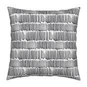 Pen Geometric Graphic Stripe Black And White Throw Pillow Cover Linen Cotton