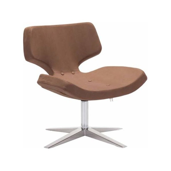 Charleroi Occasional Chair Brown Ostrich Pattern