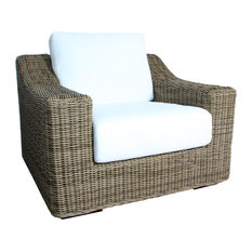 E9 Luxury Living - El Nido Club Chair with Cushions, Kubu Gray - Armchairs and Accent Chairs