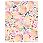 Peaches Art Nursery Print - Peaches always remind me of summer - especially peach tea! This playful patterned print would be so sweet in the kitchen or nursery. -  Artist, Juliet Meeks