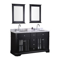"Design Element DEC306A Imperial 60"" Double Sink Vanity Set in Espresso"