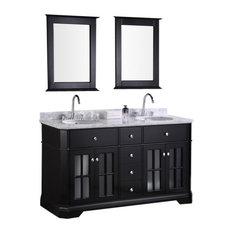 "Design Element DEC306A Imperial 60"" Double Sink Vanity Set in Espresso"