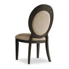 Hooker Furniture - Corsica Dark Oval Back Side Chair - Dining Chairs