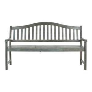 Safavieh Griffin Outdoor Bench, Ash Grey, Small