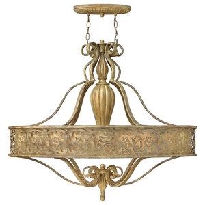 Carabel Deluxe 6-Light Oval Chandelier
