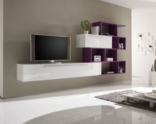 Modern Wall Unit TV Media Entertainment Center Jazz Composition 5    $1,233.00   Entertainment Centers And