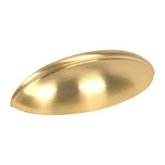 """Cosmas 1399BB Brushed Brass 2-1/2"""" CTC (64mm) Cabinet Cup Pull [10-PACK]"""