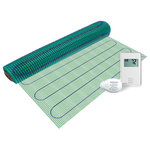WarmlyYours - Warmlyyours Floor Heating Kit Easy Mat and Non Programmable Thermostat, 24 Sq. F - The WarmlyYours floor heating kit with TempZone Easy Mat is designed for applications until tile, stone and nailed hardwood floors. TempZone™ Easy Mats allow for radiant heating of smaller, simpler areas at an affordable cost. Install radiant heating mats in front of your kitchen appliances and bath fixtures for a warm path of under floor heat where you stand the most. The nonprogrammable nTrust thermostat delivers both ease and reliability. Its sleek, minimalist appearance, featuring a large backlit display for ease of reading in low light, compliments nearly any interior design theme. Finally the circuit check provided ensures trouble-free installation of your radiant floor heating system.