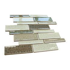 "11.875""x12.875"" Legacy Mixed Mosaic Tile Sheet, Brown"