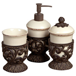 Marvelous Traditional Bathroom Accessory Sets by Jassa Home Collections
