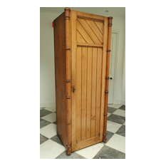 Victorian Pitch Pine Hall Cupboard