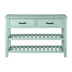 Retro Console Table For Entryway With Drawers