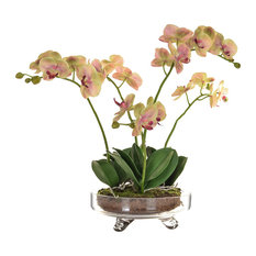 Artificial Orchid With Soil, Pink