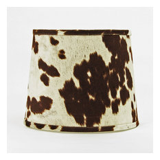 "12"" Faux Cowhide Shade, Hardback, Washer Fitter"