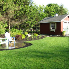 shed, landscaping