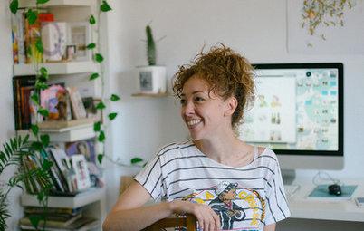 Houzz TV: Energía a raudales en el piso de una joven ilustradora