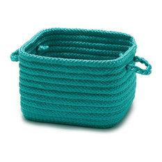 "Simply Home Shelf Square Basket, 12""x12""x9"", Turquoise"