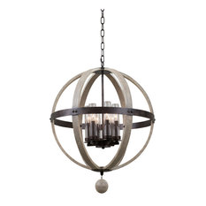 "Harper 25"" Outdoor Pendant in Florence Gold with Clear Glass"