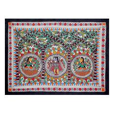 Benevolent Krishna Madhubani Painting