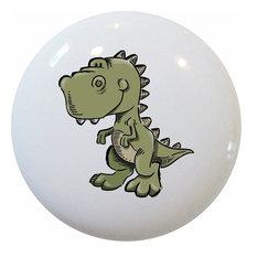 Baby T-Rex Dinosaur Ceramic Cabinet Drawer Knob