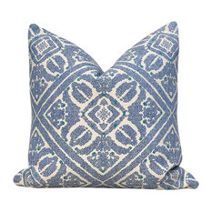 Sunbrella Indoor/Outdoor Morrocan Pillow, Ocean Blue