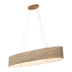 Flow 4-Light Linear Pendant, Hammered Ore