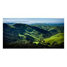 "Green Hills Over Morro Bay, 32""x16"""