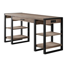 Leandro Urban Blend Computer Desk With Shelves
