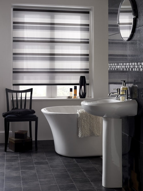 Letterbox Noir Roller Blind   Roller Shades. Bathroom Blinds