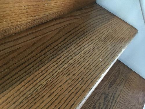 Repair stair tread in encased stringer?