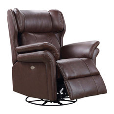 Harper Leather Swivel Chair, Brown