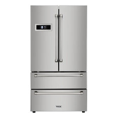 Thor Kitchen Freestanding Counter Depth French Door Refrigerator Stainless Steel 36