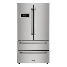 Thor Kitchen Freestanding Counter Depth French Door Refrigerator Stainless Steel 36