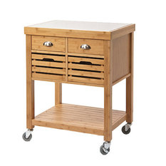 Kyoto Kitchen Cart With Stainless Steel Top   Kitchen Islands And Kitchen  Carts