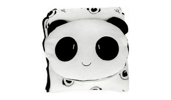 Friendly Panda Bolster Decorative Cushion Throw Pillow Blanket