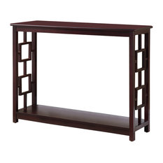 Pilaster Designs   Cornelis Wood Console Table, Dark Cherry   Console Tables