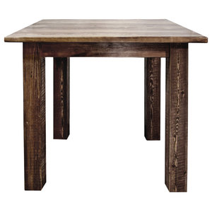 Homestead Counter Height Square 4 Post Dining Table, Stain & Lacquer Finish
