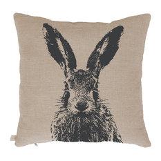 Biodegradable Linen Scatter Cushion, Hare