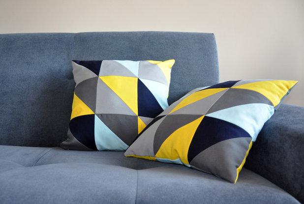 Картинки по запросу декоративные подушки в стиле печворк фото в интерьере