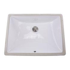 """Nantucket Sinks ' 18""""x13"""" Undermount White Ceramic Sink"""