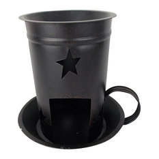 Blk Star Candle Tart Warmer Bowl
