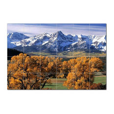 Mountain Photo Ceramic Tile Mural Kitchen Backsplash Bathroom Shower, 405521-L64