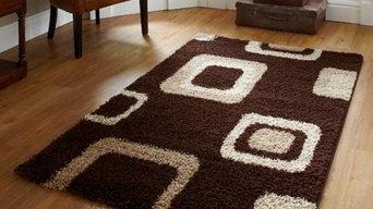 Brown budget rug