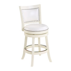 "Bristol Swivel Stool, 24"", White"