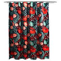 """Poppy Garden Shower Curtain, Navy, 72""""x72"""""""