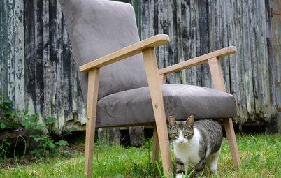 DIY : Retapisser un fauteuil des années 70 pour un look scandinave