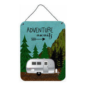 Rv Camper Camping Wander Wall Door Hanging Prints Midcentury Outdoor Wall Art By The Store