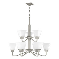 Clifton Heights 9-Light Chandelier in Brushed Nickel