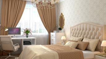 Нежная спальня в современной классике