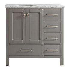 Bay Pierre Vanity Without Mirror Gray 36 Bathroom Vanities And Sink
